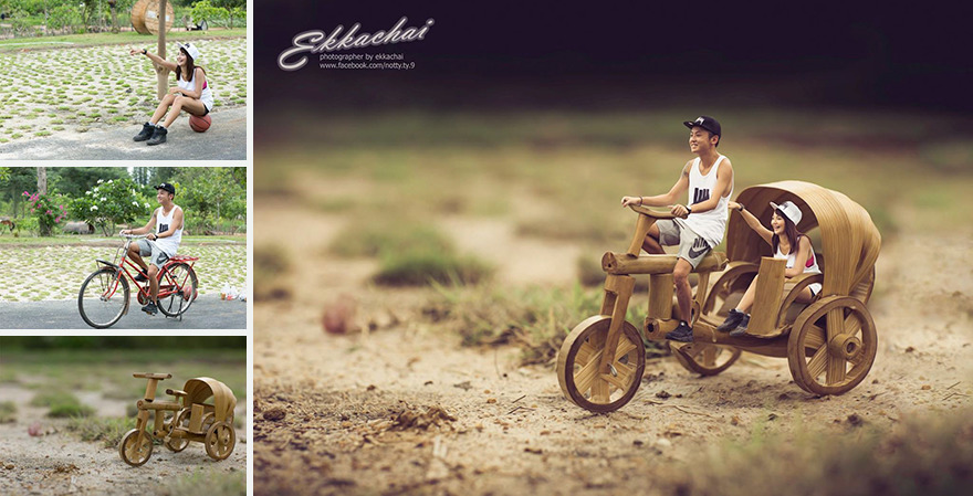 Clever Wedding Photographer Turns Couples Into Miniature People (15)