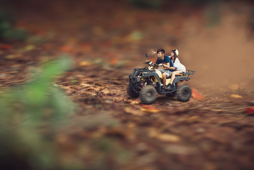Clever Wedding Photographer Turns Couples Into Miniature People (16)