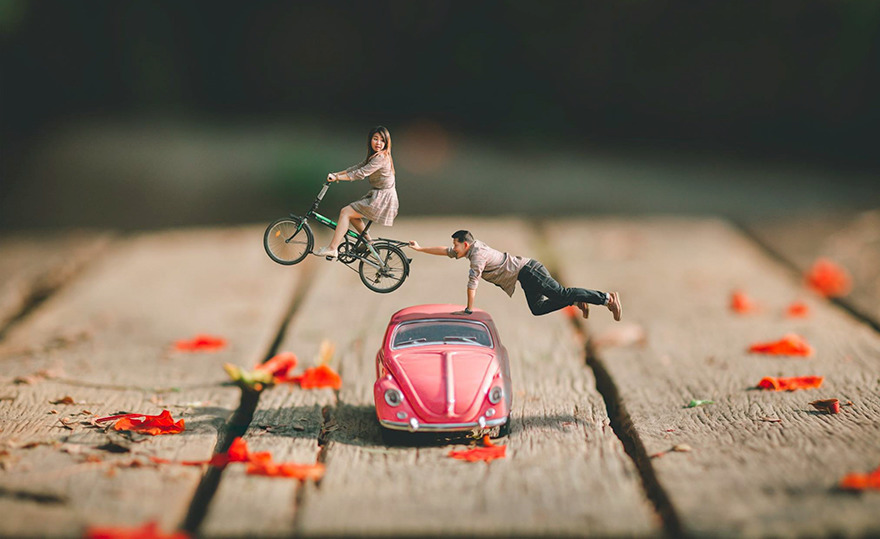 Clever Wedding Photographer Turns Couples Into Miniature People (17)