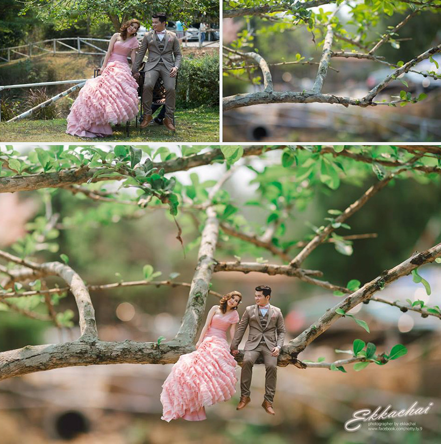 Clever Wedding Photographer Turns Couples Into Miniature People (19)