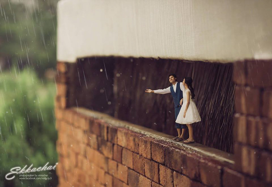 Clever Wedding Photographer Turns Couples Into Miniature People (2)