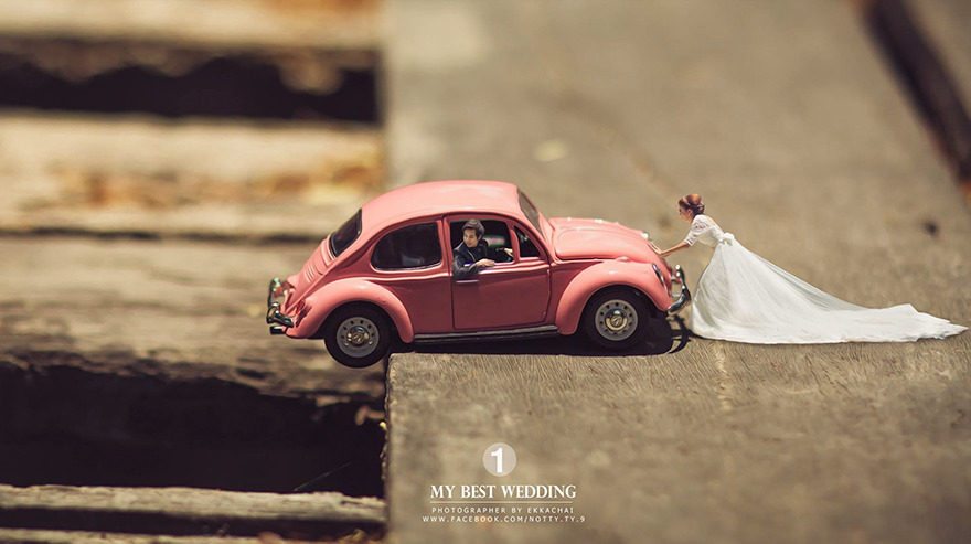 Clever Wedding Photographer Turns Couples Into Miniature People (3)