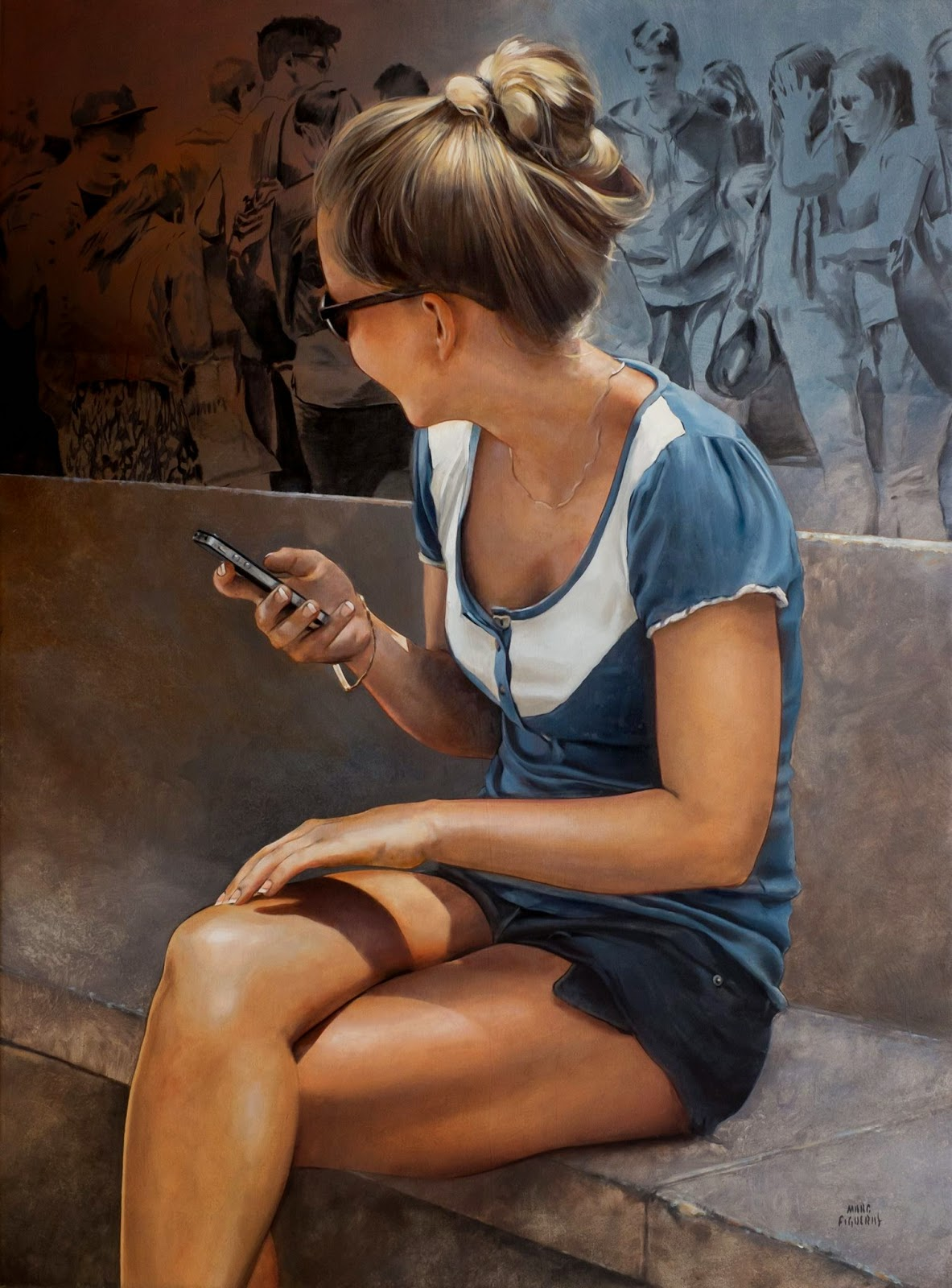Hyper Realistic Girls Figure Painting By Marc Figueras (11)