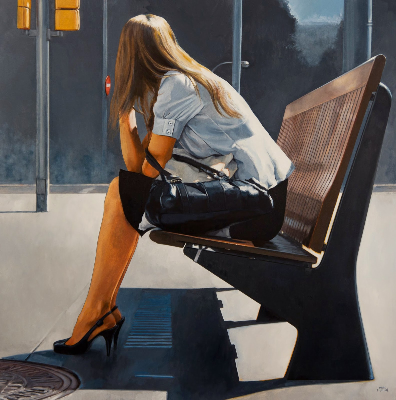 Hyper Realistic Girls Figure Painting By Marc Figueras (17)