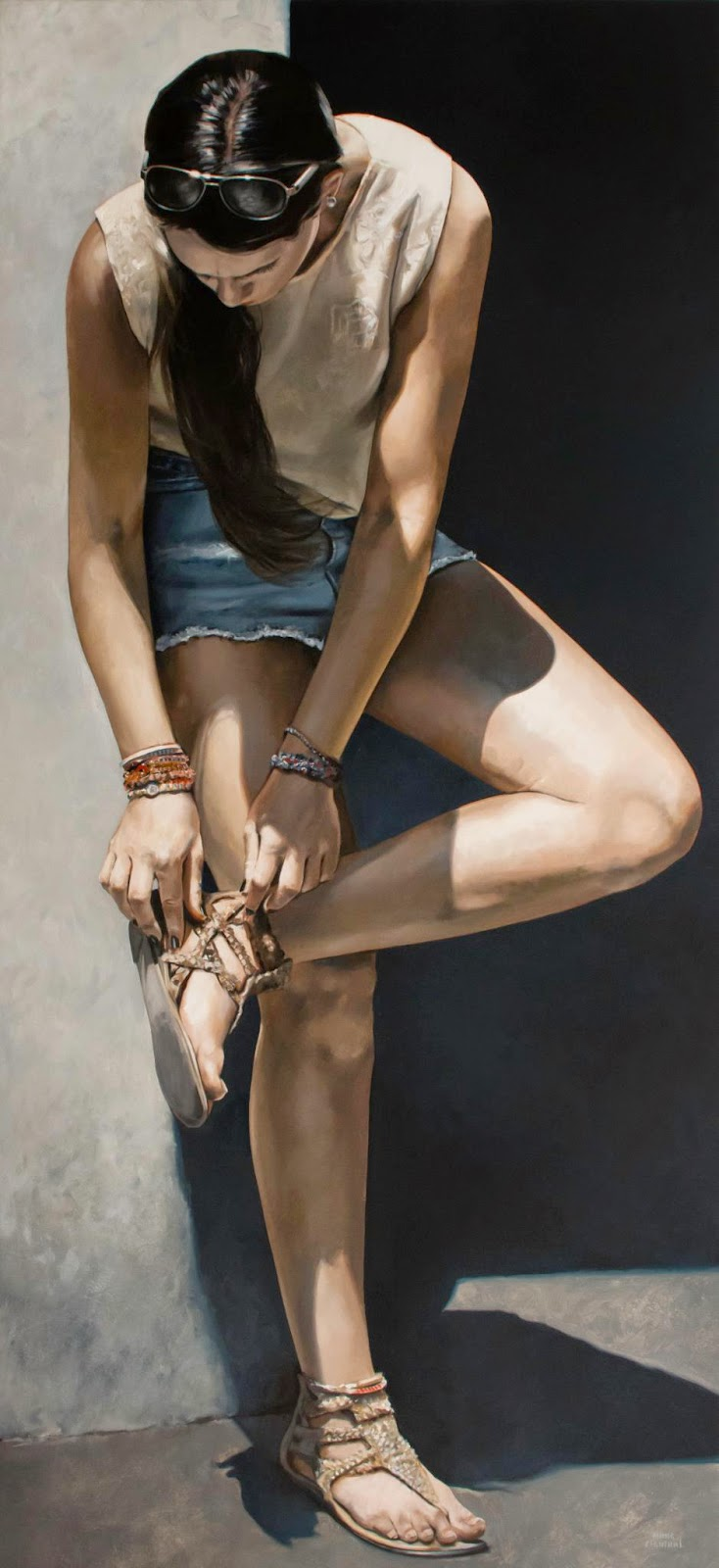 Hyper Realistic Girls Figure Painting By Marc Figueras 22