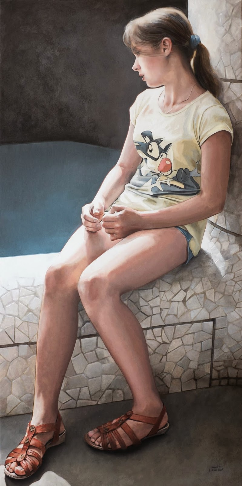 Hyper Realistic Girls Figure Painting By Marc Figueras 25