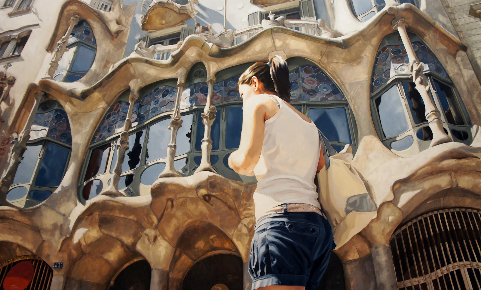 Hyper Realistic Girls Figure Painting By Marc Figueras (28)