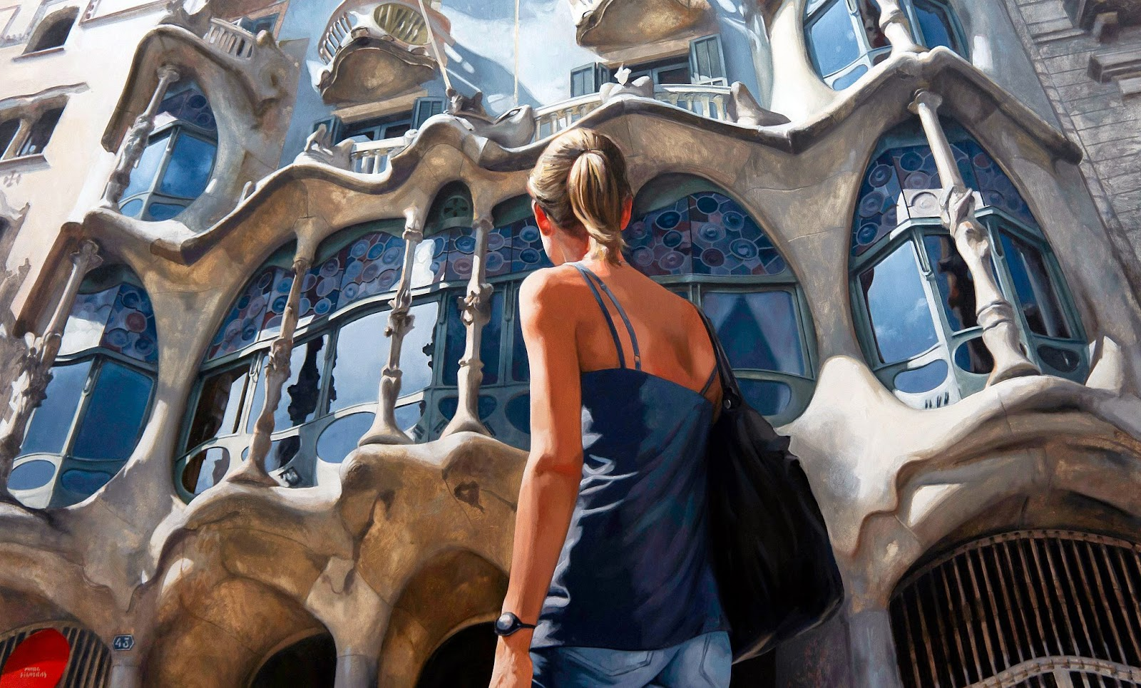 Hyper Realistic Girls Figure Painting By Marc Figueras (35)
