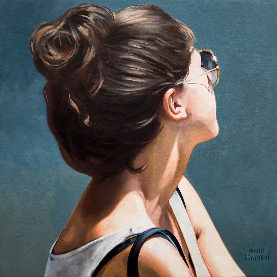 Hyper Realistic Girls Figure Painting By Marc Figueras (36)
