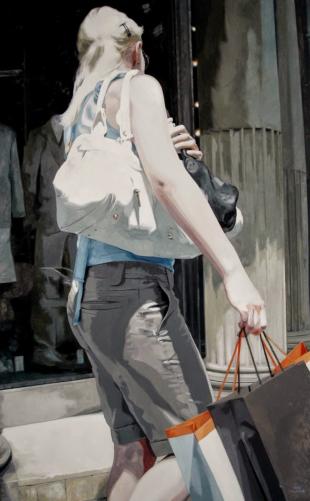 Hyper Realistic Girls Figure Painting By Marc Figueras 37
