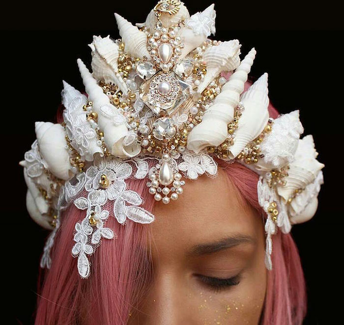 Mermaid Crowns With Real Seashells Photos (12)