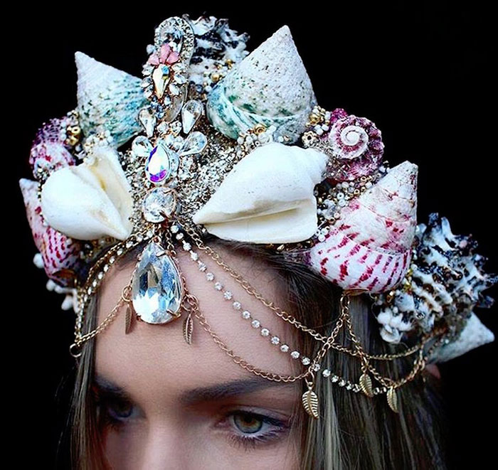 Mermaid Crowns With Real Seashells Photos (13)