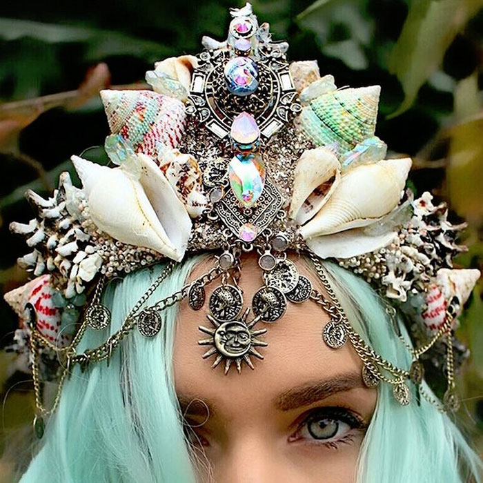 Mermaid Crowns With Real Seashells Photos (15)