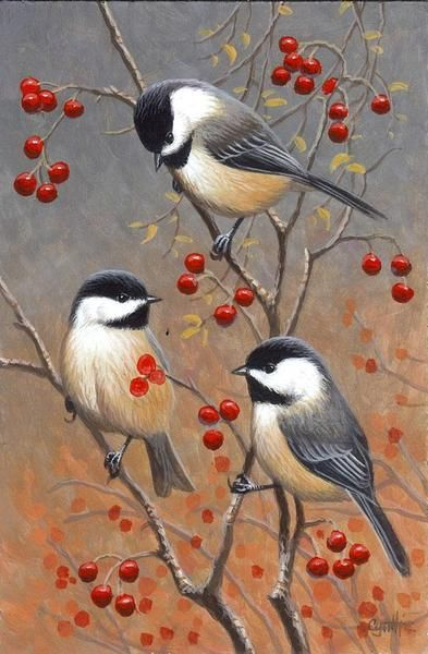 Realistic Oil Painting of Birds (31)