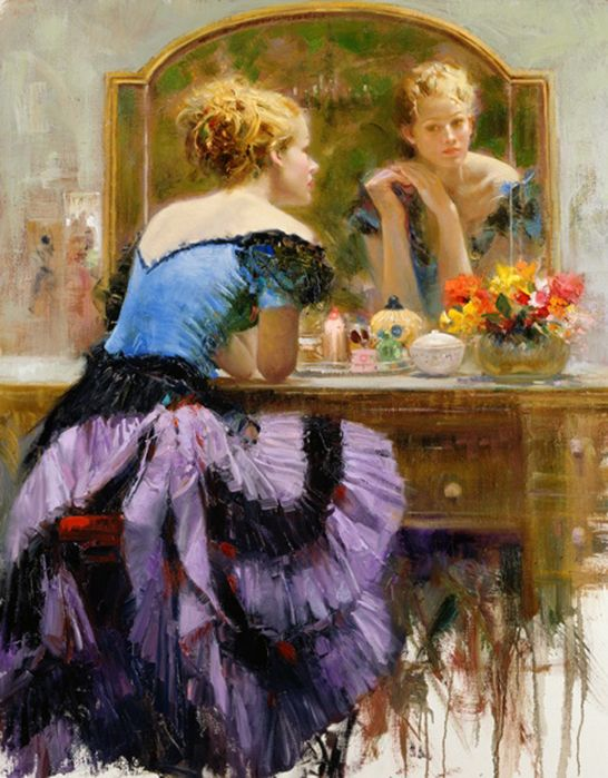 Stylish Girls Portraits Art By Pino Daeni (13)