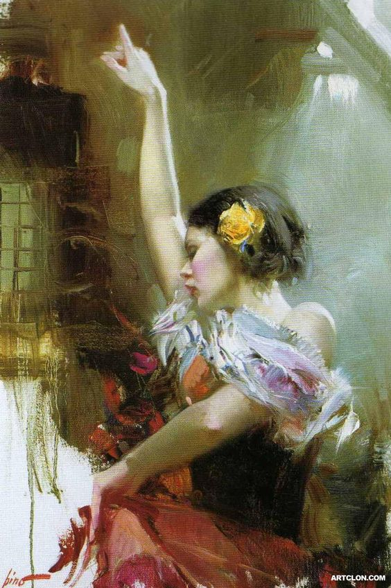 Stylish Girls Portraits Art By Pino Daeni (14)