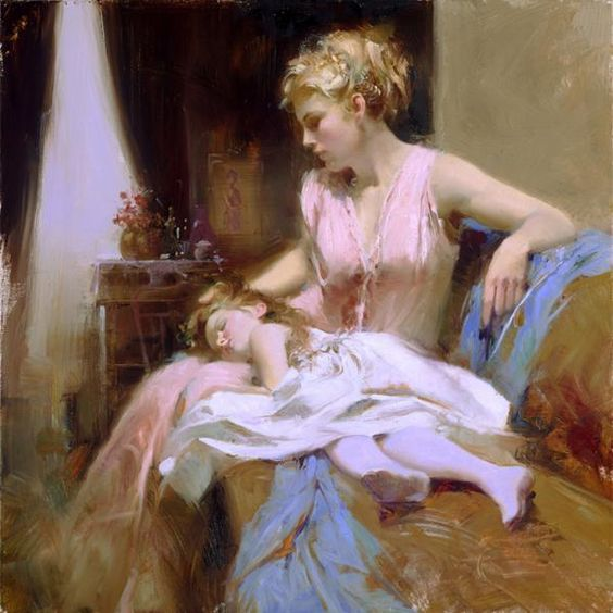 Stylish Girls Portraits Art By Pino Daeni (2)