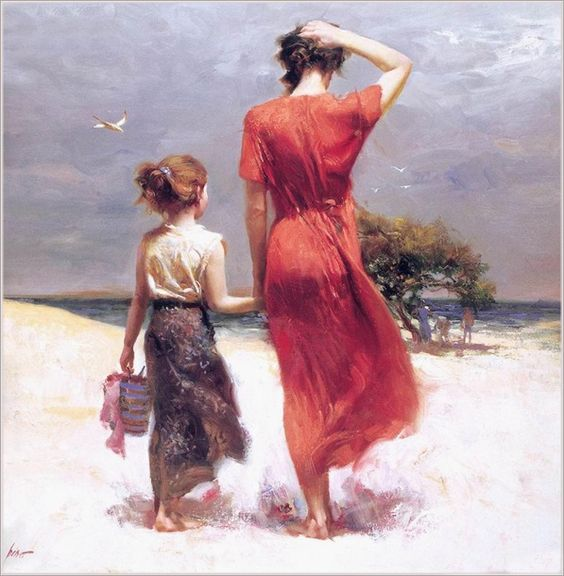Stylish Girls Portraits Art By Pino Daeni (3)