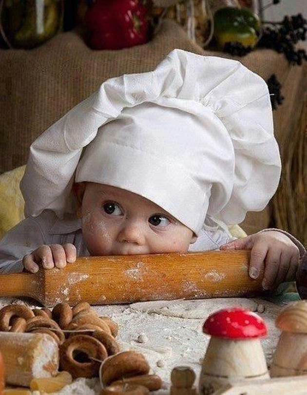 Cute Little Baby Chef Photography (13)