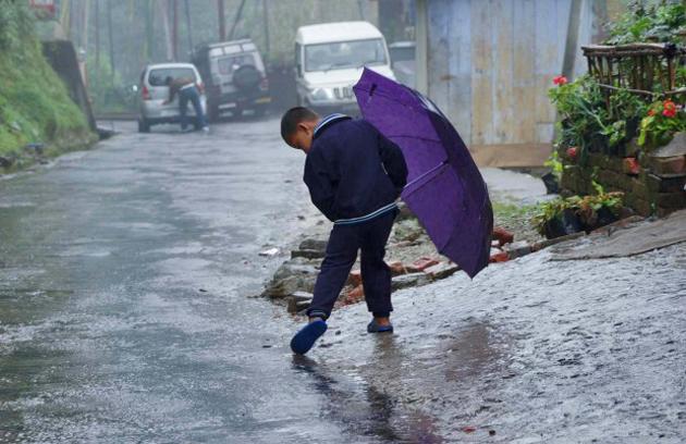Cute Baby Enjoying Rain Images (9)