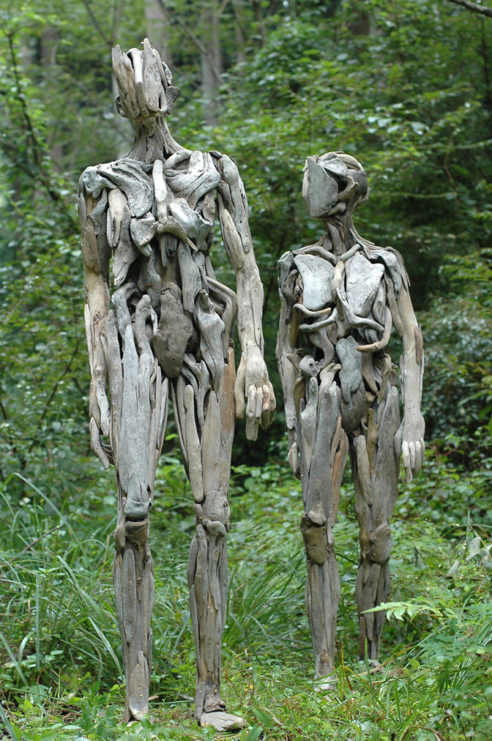 Haunting Driftwood Forest Spirits By Japanese Sculptor (1)