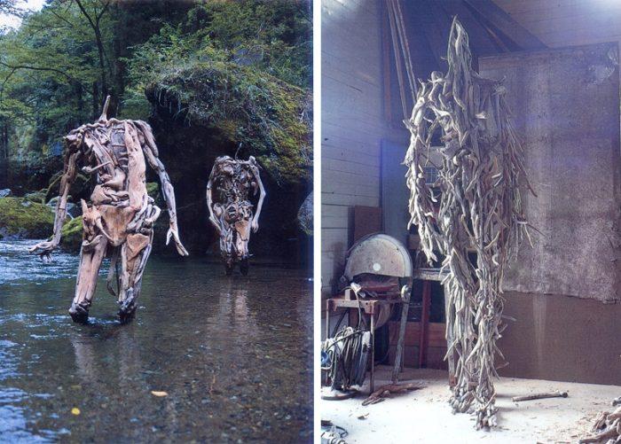 Бродит Коряги Лесные Духи Японский Скульптор (11)