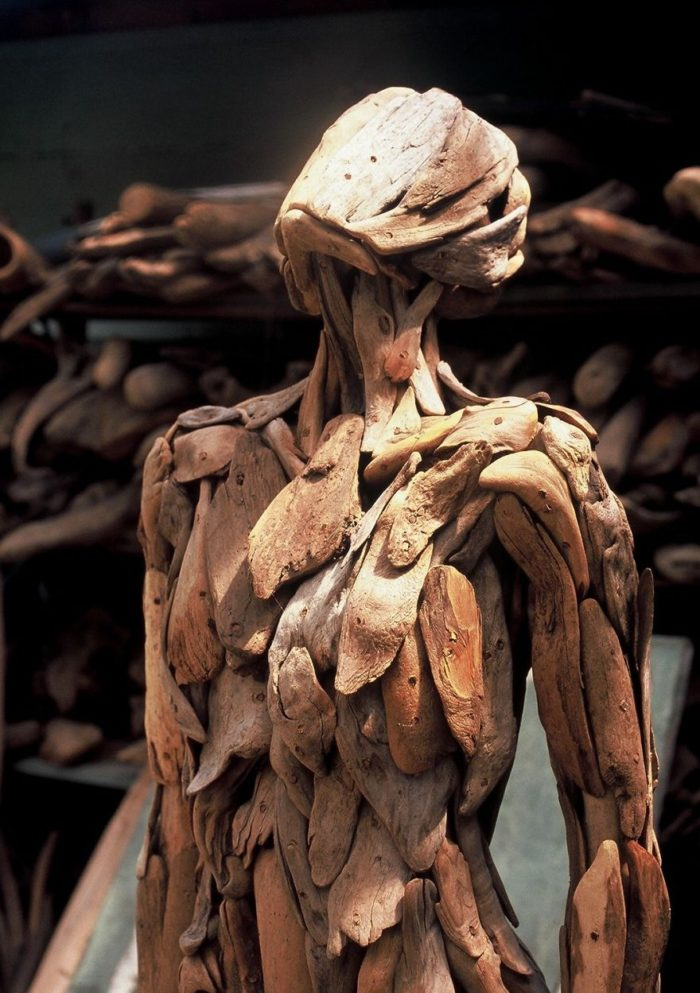 Haunting Driftwood Forest Spirits By Japanese Sculptor (2)
