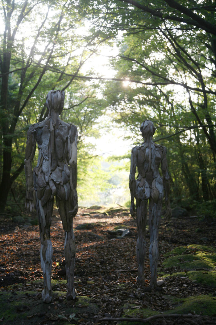 Haunting Driftwood Forest Spirits By Japanese Sculptor (3)