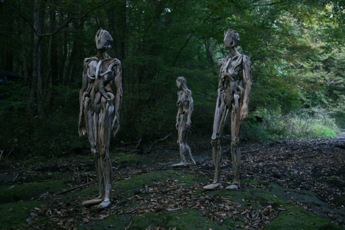 Haunting Driftwood Forest Spirits By Japanese Sculptor (5)