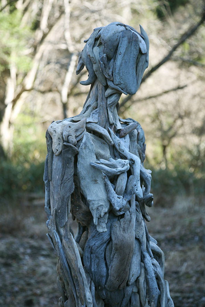 Haunting Driftwood Forest Spirits By Japanese Sculptor (6)