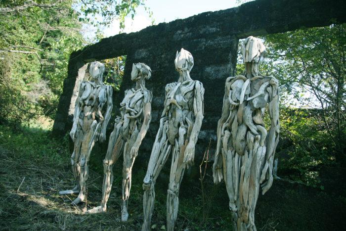 Бродит Коряги Лесные Духи Японский Скульптор (9)