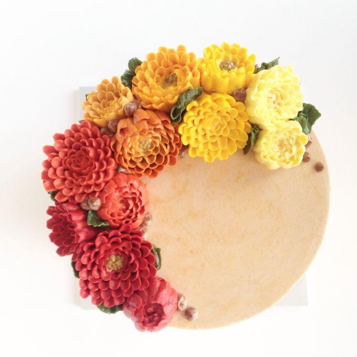 Вкуснятина Цветущий Цветок Торты (13)