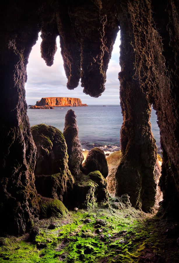 Cave with a view by Stephen Emerson - coast of Northern Ireland