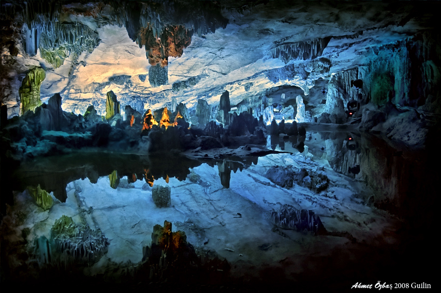 Red Flute Cave by Ahmet Özbaş - Guilin