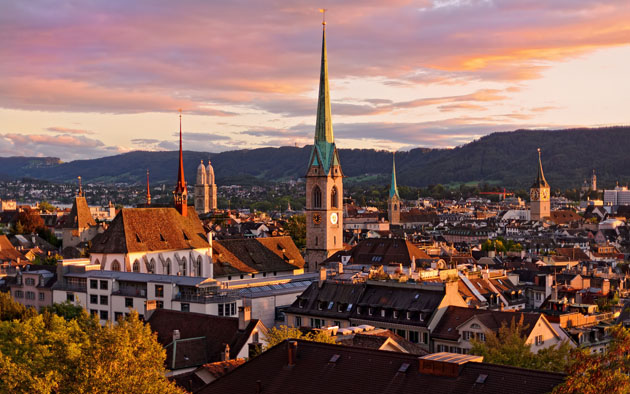 Building-Dusk-Zurich-Switzerland