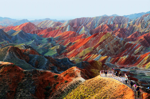 colorful-rock-formations-china