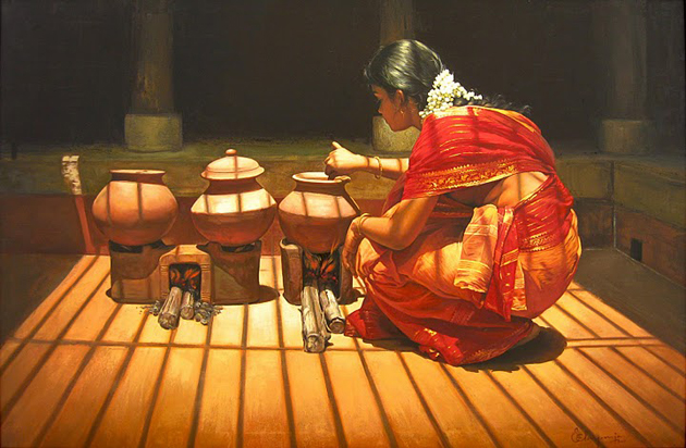 Amazing Oil Painting by South Indian Legend Ilaiyaraaja (1)