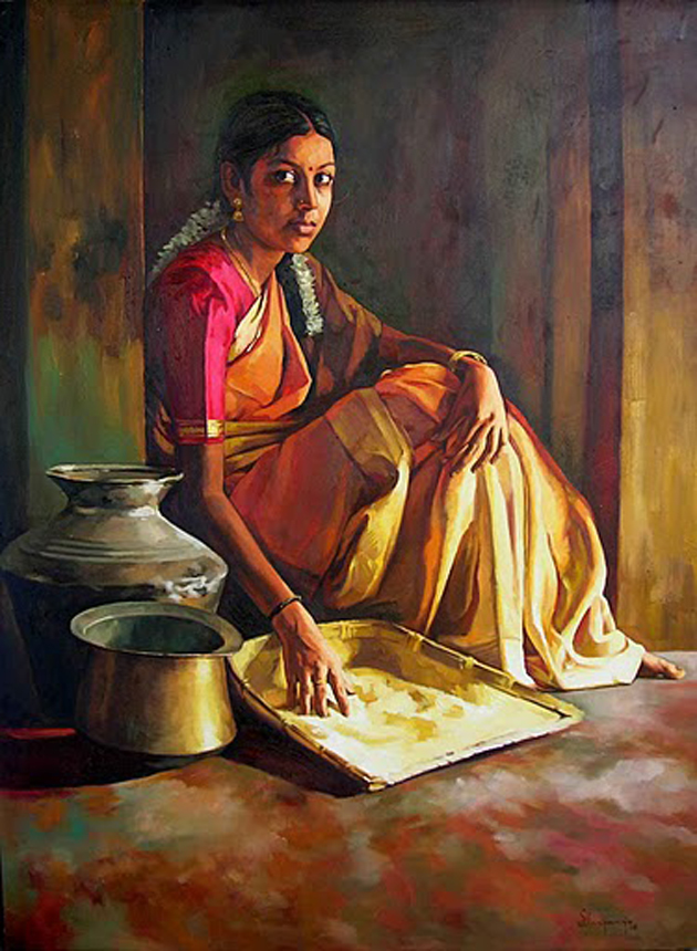 Amazing Oil Painting by South Indian Legend Ilaiyaraaja (15)
