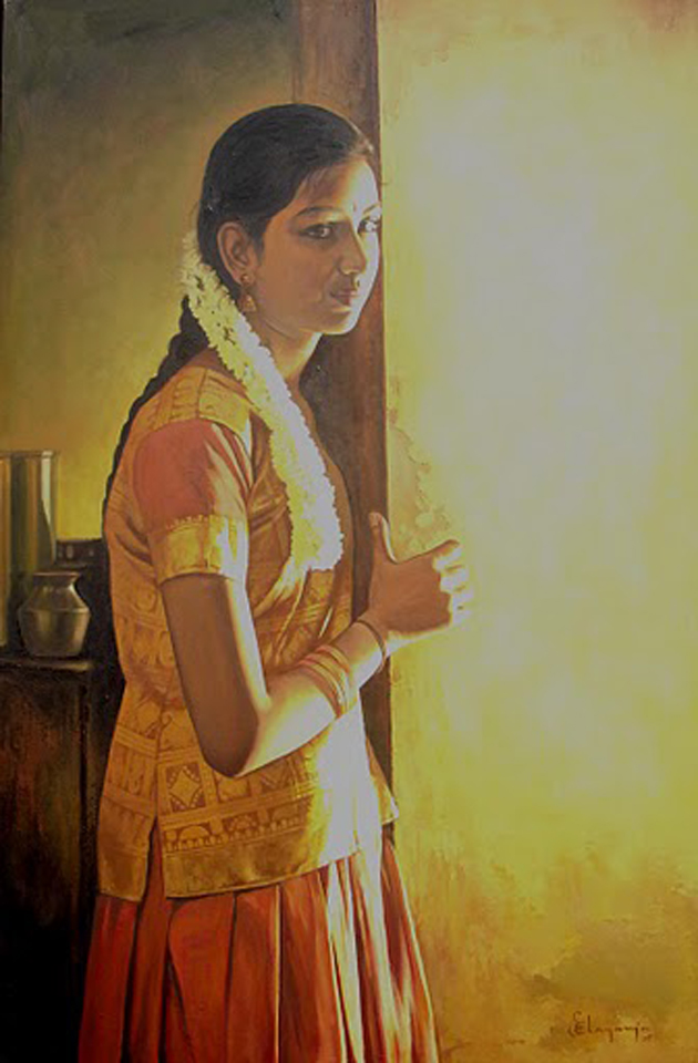 Amazing Oil Painting by South Indian Legend Ilaiyaraaja (21)