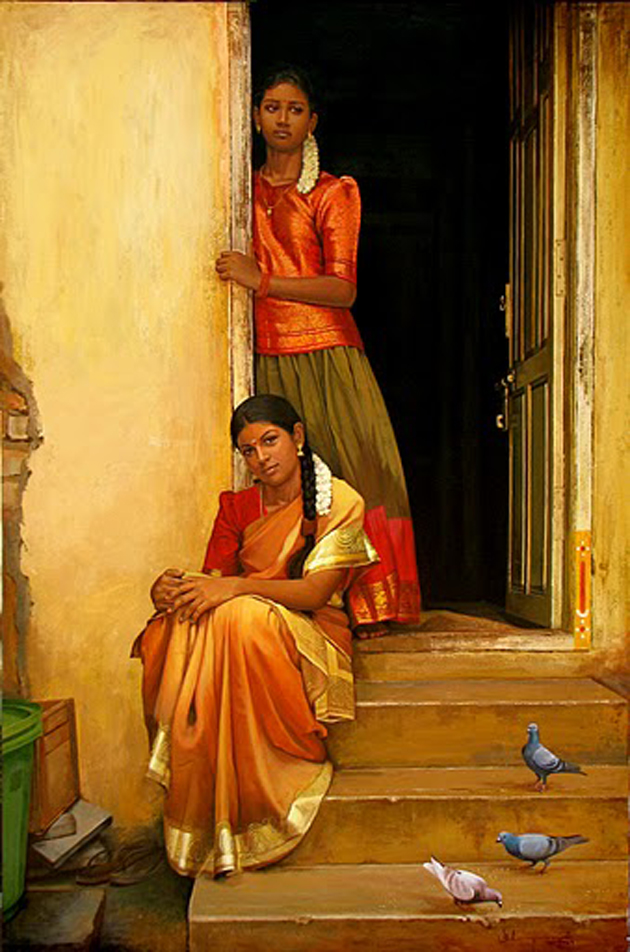 Amazing Oil Painting by South Indian Legend Ilaiyaraaja (23)