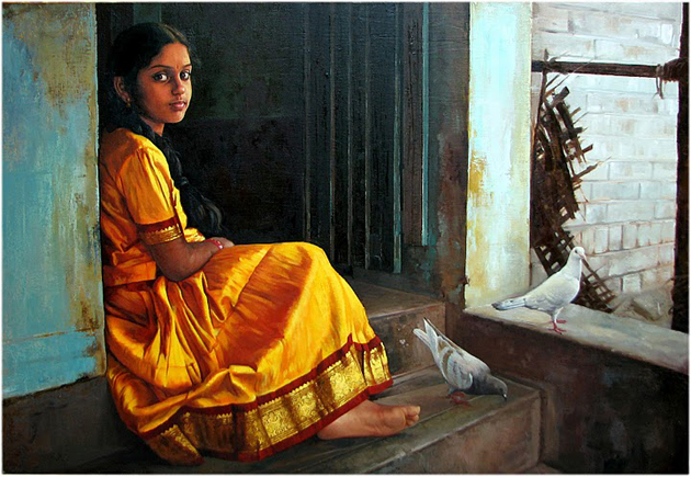 Amazing Oil Painting by South Indian Legend Ilaiyaraaja (5)