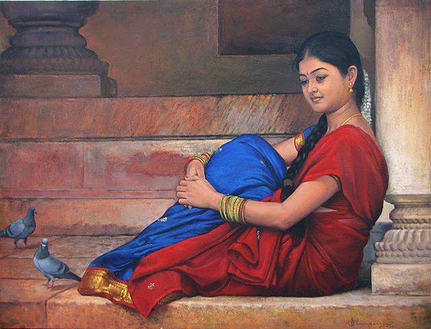 Amazing Oil Painting by South Indian Legend Ilaiyaraaja (8)