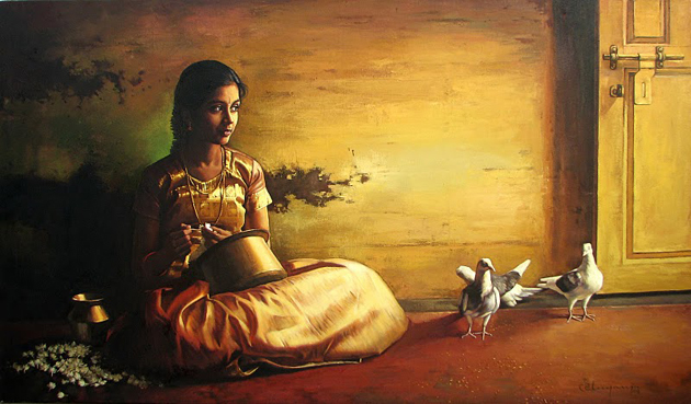 Amazing Oil Painting by South Indian Legend Ilaiyaraaja (9)