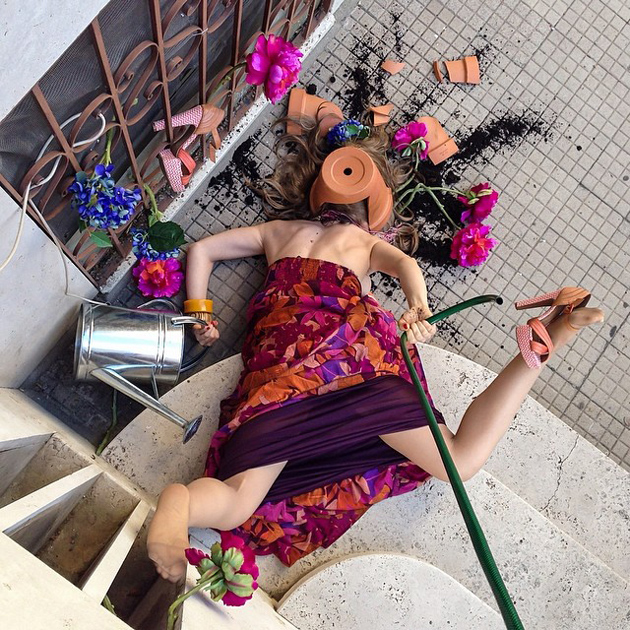 Hilarious Photo Series - Funny Photos of People Posing As If They Have Just Fallen Down (16)