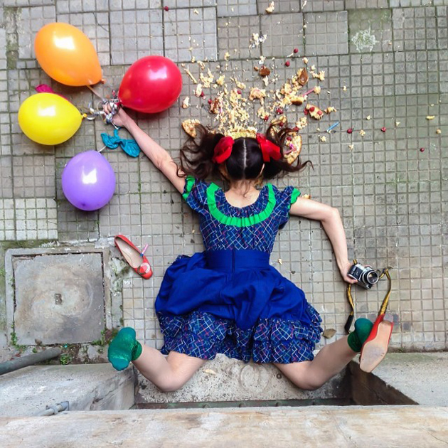 Hilarious Photo Series - Funny Photos of People Posing As If They Have Just Fallen Down (4)