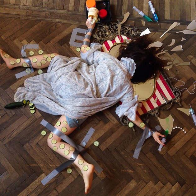 Hilarious Photo Series - Funny Photos of People Posing As If They Have Just Fallen Down (8)