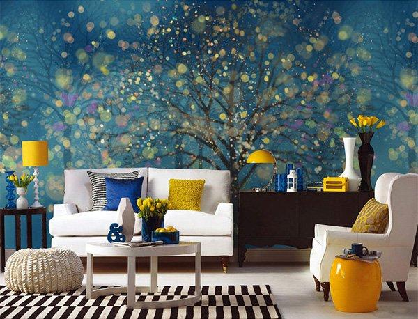 Beautiful Wall Design Ideas-Fantasy-Forest-Wallpaper