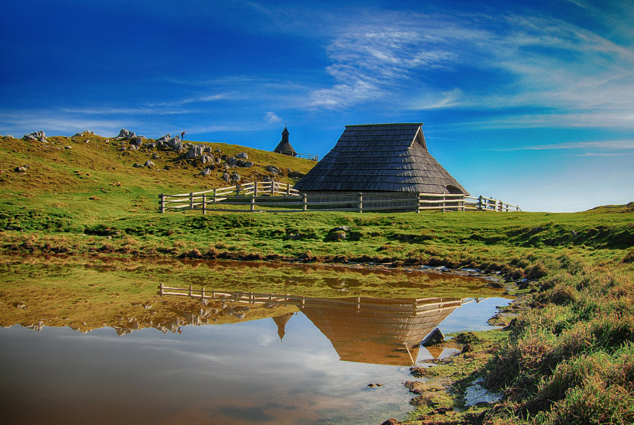 Reflection on Velika Planina by Gitta Sladič on 500px