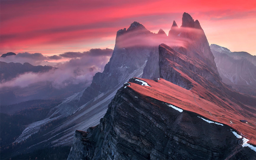 The Red Barrier by Max Rive on 500px
