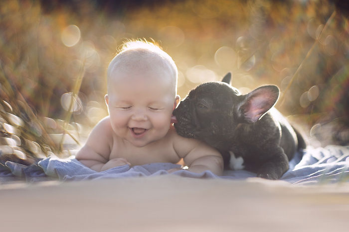 Adorable Photos kids with dog (23)